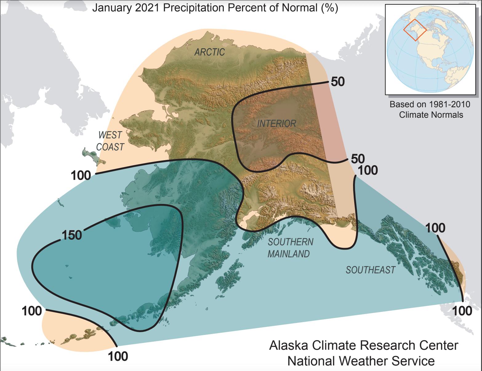 precip anomaly map